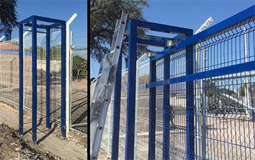 Portones Corredizos de Reja de Acero Instalación Poste Puente